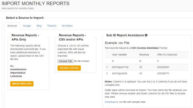 Importing Sub-ID Revenue for Delayed Data